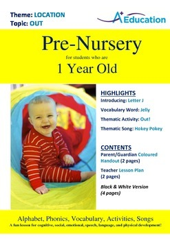 Location - Out : Letter J : Jelly - Pre-Nursery (1 year old)