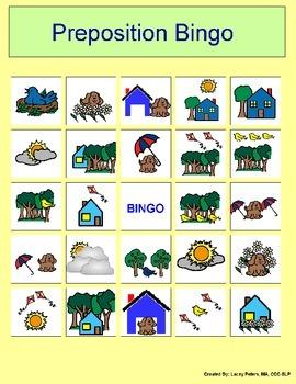 Location Preposition BINGO