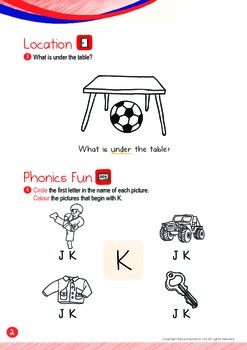 Location - Under (I): Letter K - Kindergarten, K1 (3 years old)