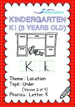 Location - Under (II): Letter K - Kindergarten, K1 (3 years old)