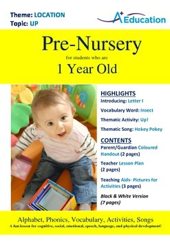 Location - Up : Letter I : Insect - Pre-Nursery (1 year old)