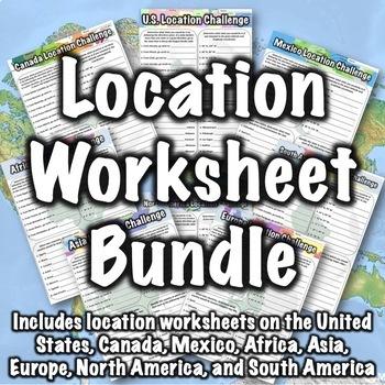 Location Worksheet Bundle
