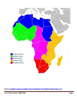 AFRICA_Lesson 1_Location of African Countries and Regions
