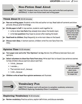 Vocabulary Sub Plans: Sub Tubs® Location Lesson Plan/Grade 2