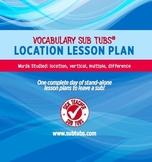 Vocabulary Sub Plans: Sub Tubs® Location Lesson Plan/Grade 5