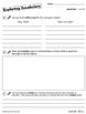 Vocabulary Sub Plans: Sub Tubs® Location Lesson Plan/Grade 6 (elementary)