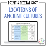 Locations of Ancient Cultures Sorting Cards (SOL 3.5 and 3.8)
