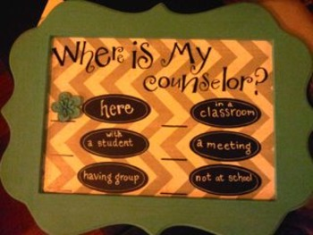 Locator Sign for Counselors, Teachers, Administrators