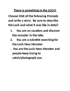 Loch Ness Monster Writing Prompt