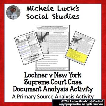 Lochner v New York 1905 Supreme Court Case Document Analys