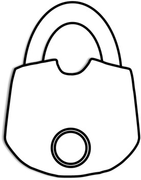 Lock Clip Art (Padlocks, Combination, Lock and Key) Personal or Commercial Use