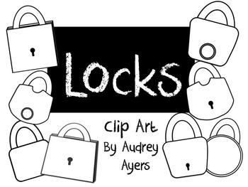 Lock Clip Art (Padlocks, Combination, Lock and Key) Person