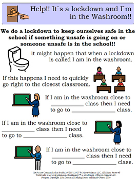 Lock Down/Secure School Explicit visual instructions - fill in the blank