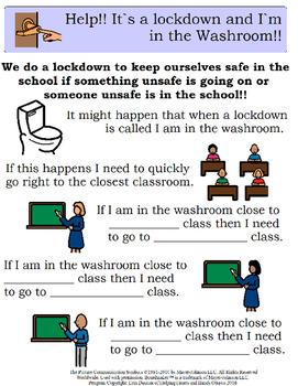 Lock Down/Secure School Explicit visual instructions - fil