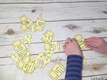 Lock & Key Addition Puzzles
