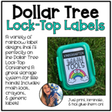 Lock-Top Container Labels