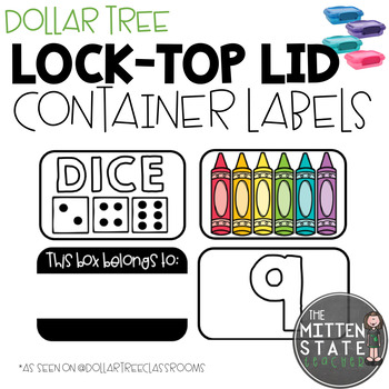 Lock Top Lid Container Labels (Dollar Tree)