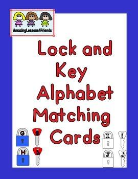 Lock and Keys Alphabet Matchig Cards