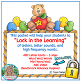 Lock in the Learning!  Alphabet Card Sets, Word Wall Set, and Video