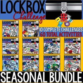 Lockbox Challenge Holiday/Seasonal BUNDLE   Enrichment   Breakout Box
