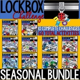 Lockbox Challenge Holiday/Seasonal BUNDLE | Enrichment | B