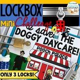 Lockbox Challenge Activity|Logic Puzzle|Enrichment|Dog Theme