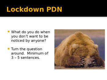 Lockdown Drill Practice Powerpoint