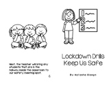 Lockdown Drills, School Safety, Social Story, Print & Color Book