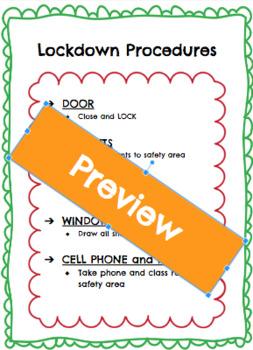 FREEBIE - Lockdown Procedures Mini-Poster