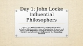Locke and Montesquieu and Influential Documents