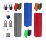Locker Clip Art - Combo Lock and Books Digital Graphics