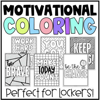 Quote Coloring Pages (Middle School Lockers)