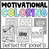 Motivational Positive Quote Coloring Pages | Middle School