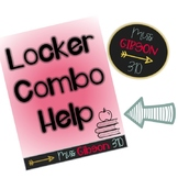Locker Combination Cheat Sheet