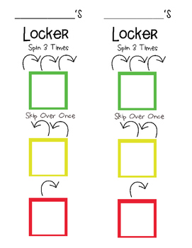 Locker Combination Visual Aid