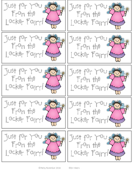 Locker Fairy Tags