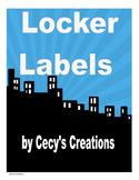 Locker Labels for Sheila