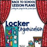 STS Locker Organization Lesson Plan for Back to School | D