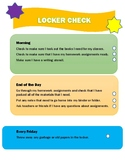 Locker Poster To Support Executive Functioning