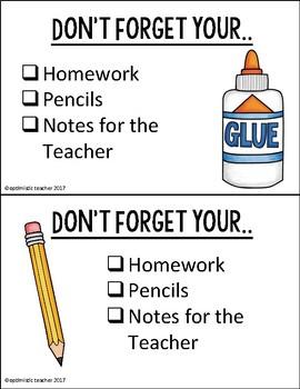 Locker Reminders