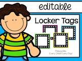 Locker Tags - Bright Colors