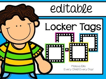 Locker Tags - Bright Colors