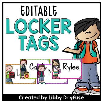 Locker Tags - Editable!