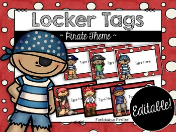 Locker Tags Pirate Theme