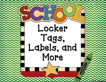 Locker Tags, Labels, and More