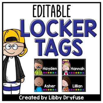 Locker Tags - Sketchy Dots