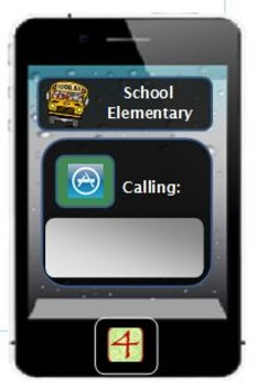 4th grade Locker and Name tag Cellphone theme 4 per page