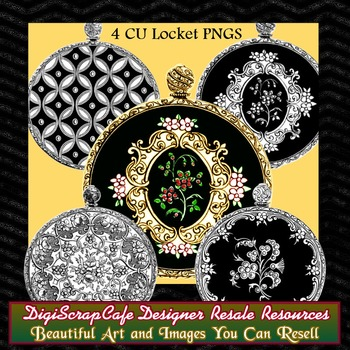 Locket Pendants Pocket Watch Vintage Gothic Clip Art Transparent Commercial Use