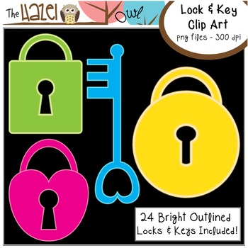 Locks & Keys Set: Clip Art Graphics for Teachers