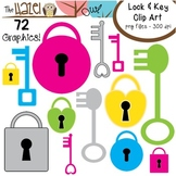 Locks & Keys Set: Clip Art Graphics for Teachers
